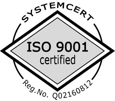 Systemcert - ISO 9001 certified